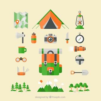 icônes de camping
