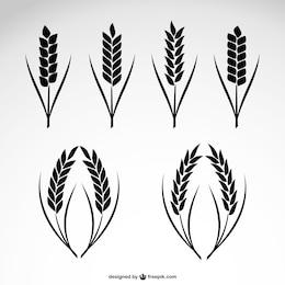 Icônes de collecte de blé
