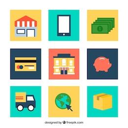 icônes de Commerce