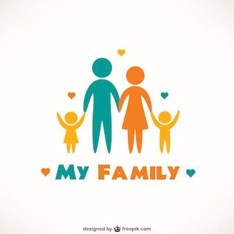 Icônes de famille heureuse