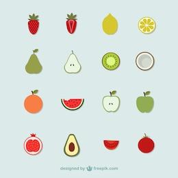 icônes de fruits