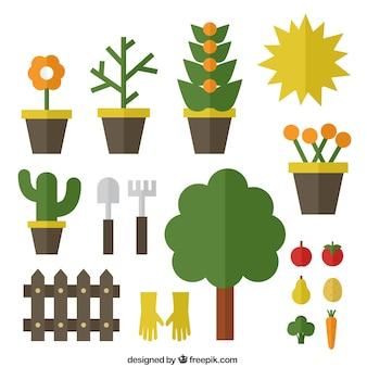 icônes de jardinage