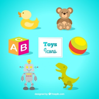 Icônes de jouets colorés