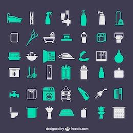 Icônes de la salle de bains