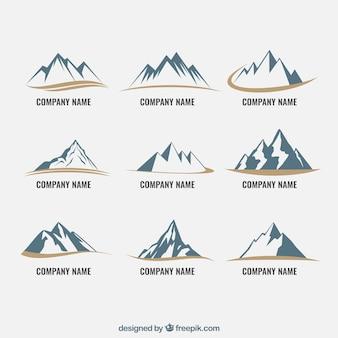 icônes de montagne