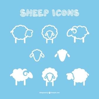 icônes de moutons