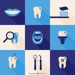 Icônes dentaires fixés