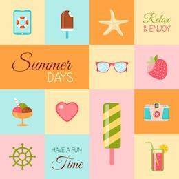 Icônes Summertime