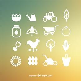 Icônes vectorielles de la ferme