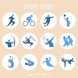 Icônes vectorielles sportive lot