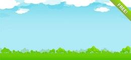 Illustration de la nature libre avec Sky, nuages et les arbres