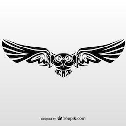Illustration vectorielle de hibou tribal
