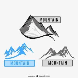 Illustration vectorielle de montagnes