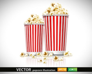 illustration vectorielle popcorn