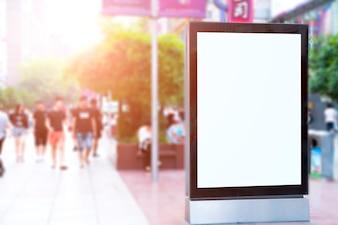Image d'arrière-plan vide concept d'entreprise blanc nuit simple