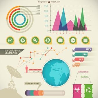 éléments vectoriels infographiques Pack