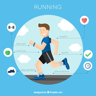 Infographie Courir