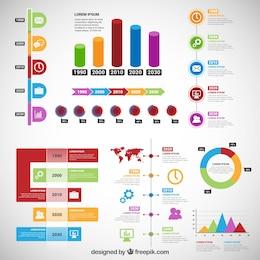Infographie Timeline dans un style coloré
