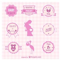 Insignes et symboles grossesse vecteur