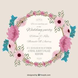 invitation de mariage avec floral