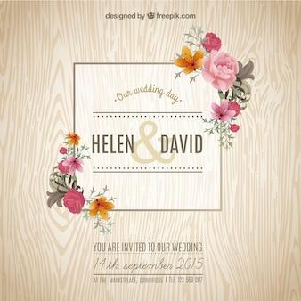 invitation de mariage de printemps