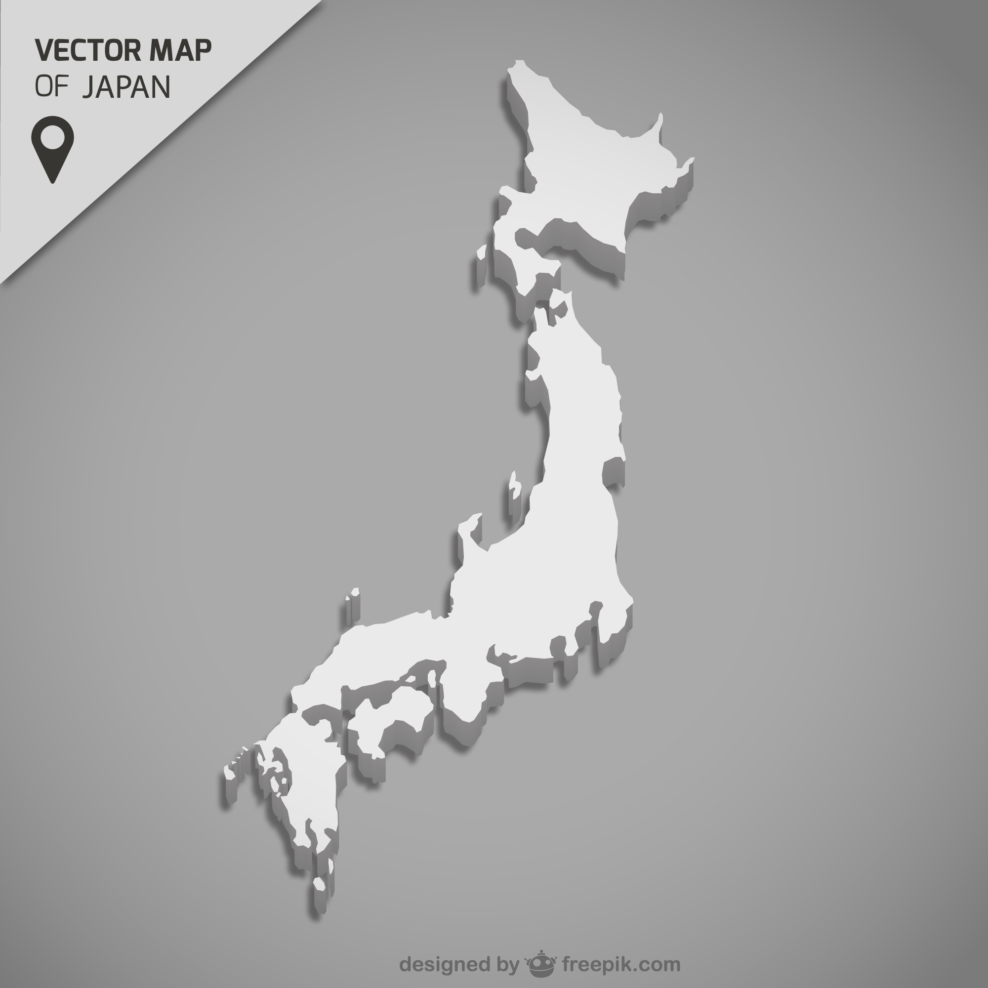 Japon vecteur carte