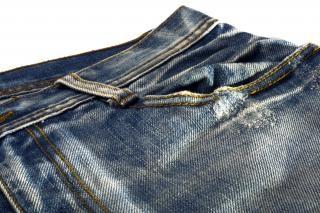 Jeans, rugueux