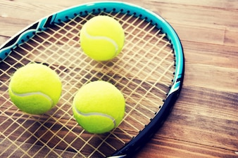 Jeu de tennis.