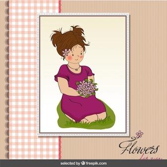Jolie fille avec le bouquet