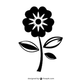 Jolie icône de fleurs