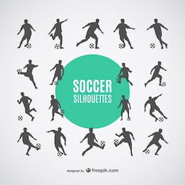 Joueurs de football silhouettes dowbload libre