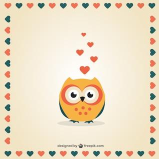 Jour la chouette de la Saint-Valentin