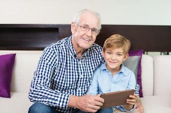 Joyeux cadre grand-parent collage recherche