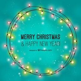 Joyeux Noël avec ampoules