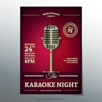 Karaoke affiche de nuit