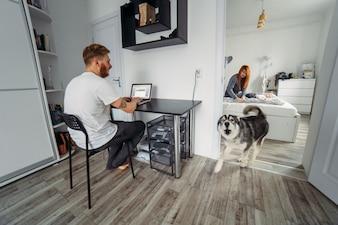 L'aboiement des chiens à la maison