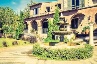 L'architecture italie repère extérieur europe