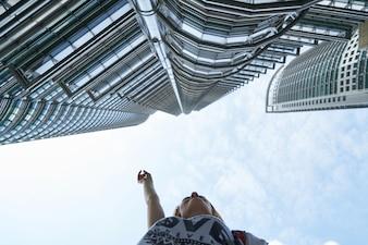 L'architecture kuala lumpur tour jumelle centre-ville d'affaires