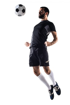 L'homme joue au football