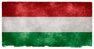 L'image hongrie drapeau grunge