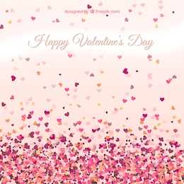 La carte de Saint-Valentin avec petits coeurs