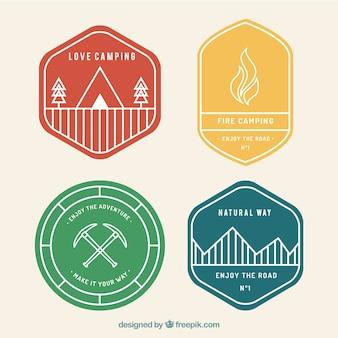 la collecte des badges de camping