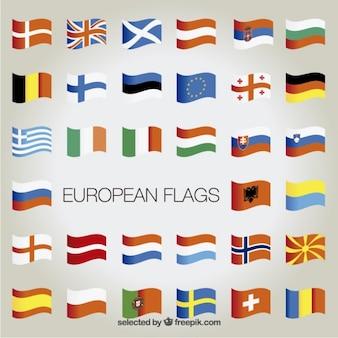 La collecte des drapeaux européens