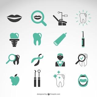 La collecte des icônes vectorielles de dentiste
