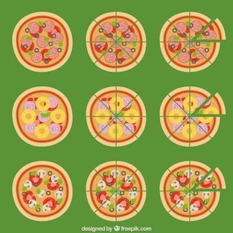 la collecte des Pizzas