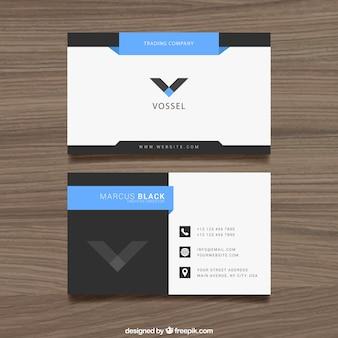 la conception de cartes de visite