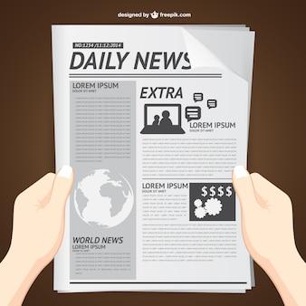 La lecture des nouvelles vecteur quotidien