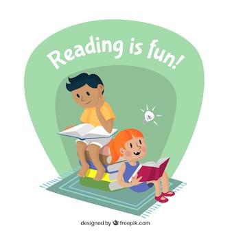 La lecture est amusant
