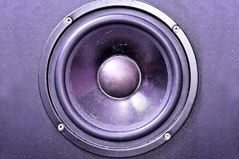 La membrane des haut-parleurs.