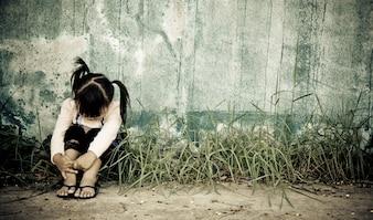 La misère la douleur de la famille peur des problèmes